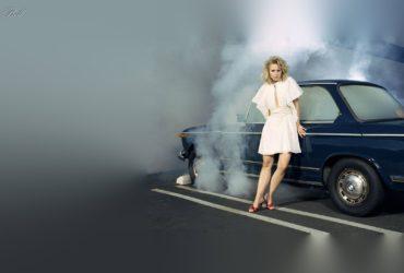 kristen-bell-wallpaper-heels-high-white-dress-smoke-car-standing-wallpapers-dreams-hot-overheating